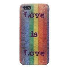Distressed Rainbow LGBT Flag Love is Love
