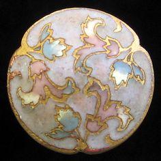 Gorgeous Antique Lavender Cloisonne' Enamel Button  ...Sold for $90