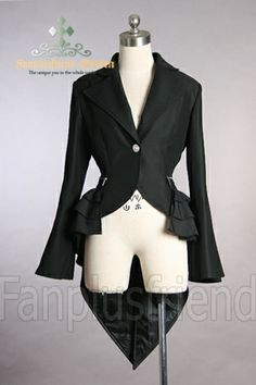 Absolutely LOVE the tails on this jacket. I love the petal-shape and the little frills over the hips.