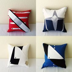 Drum Corps Intl inspired pillows. Cool.