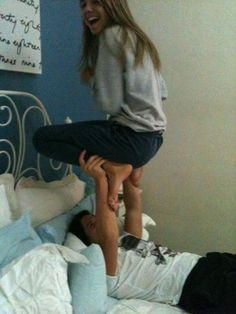 haha ; i want this.  a cute relationship with moments like this where we have fun and cherish each moment !
