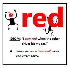 red #idioms #voc. #ELT