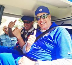 Jim Kelly and Rex Ryan in a helicopter 6/6/2016