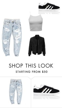"""""""Untitled #1"""" by libbylibstercross ❤ liked on Polyvore featuring OneTeaspoon, adidas and LE3NO"""