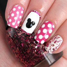 Minnie Mouse inspired mani!