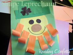 Shape Leprechauns ~ St. Patrick's Day Craft for Kids