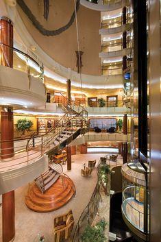 Luxury cruise liners are elegant.