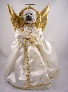 West Highland Terrier Angel 14 Tree Topper ** This is an Amazon Affiliate link. See this great product.