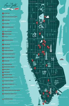 CITIZEN OF THE WORLD - NYC TRAVEL GUIDE & MAP by Ana Seixas, via Behance
