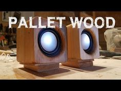 I really love pallet wood projects!I had a couple of USB powered mini speakers that didnt work right. I removed the casing and kept the speaker elements, cables and...