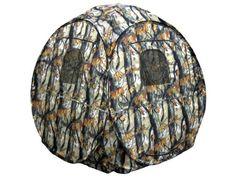 KillZone Turret Hunting Pop-Up Ground Blind Turkey Deer Hunting Blind with Open Woods Camo - OMJ Outdoors