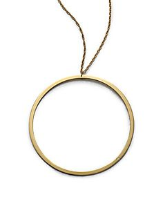 Jennifer Zeuner Jewelry Circle Pendant Necklace circle