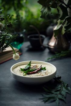 Don't forget to pair your Savory Semolina Loaf with this freshly ground Coconut Chutney! Vegan | Gluten Free | Breakfast | Dinner | Food Photography | Food Styling | Indian food.