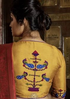 Saree Blouse Designs, Blouse Styles, Indian Blouse, Green Blouse, Work Blouse, Blouses, Graphic Sweatshirt, Sweatshirts, Silhouettes