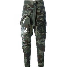 Faith Connexion Paint Splash Print Camouflage Trousers as seen on Gwen Stefani