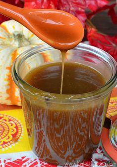 Salted Maple Caramel Sauce | Katie's Cucina