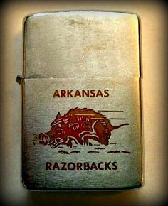 Vintage Razorbacks Zippo Lighter. My Dad had one of these back in the '60's. Wish I still had it!