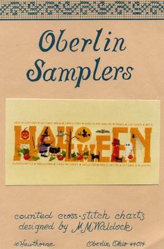 Oberlin Samplers HALLOWEEN Counted Cross Stitch Pattern