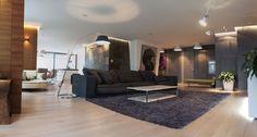 Ukrainian studio Kupinskiy & Partners has designed the interior of this square foot apartment located in Kiev, Ukraine. Apartment Interior Design, Modern Interior Design, Interior Architecture, Interior Ideas, Lofts, Creative Home, Luxury Living, Living Spaces, Living Room