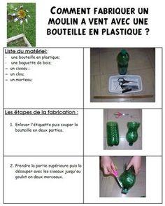 Fabriquer un moulin vent en bouteille en plastique id es d co pinterest comment kos et - Comment fabriquer un moulin a vent en papier ...