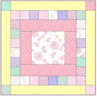 Speedy Baby 2 Quilt - Free Pattern - using 5 inch charm squares - 45 inches x 45 inches.