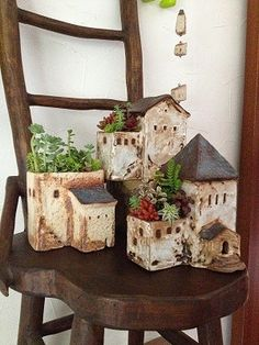 Little house flower pot