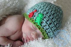 Crochet Baby Hat Baby Boy Hat Dinosaur Hat by SweetnessInSmyrna