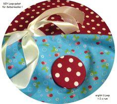 Stoffpaket♥Loop♥ DIY Kirschen Blümchen Dots  von ஐღKreawusel-aufgehübscht✂ஐ  auf DaWanda.com