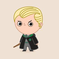 Shop Draco Malfoy harry potter t-shirts designed by ppmid as well as other harry potter merchandise at TeePublic. Harry Potter Cartoon, Harry Potter Stickers, Harry Potter Printables, Cute Harry Potter, Harry Potter Quidditch, Harry Potter Merchandise, Harry Potter Drawings, Harry Potter Pictures, Harry Potter Facts