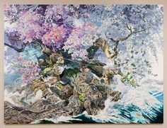Astonishing Pen & Ink Masterpiece by Manabu Ikeda  During 3.5 years Japanese artist Manabu Ikeda worked 10 hours per day painting his giant ink picture. This massive masterpiece is called Rebirth and it represents the birth of a tree from the sea. Looking closer it is possible to see a myriad of details and fascinating secondary stories. The idea of being born again came from the artists perception of the catastrophes that occurred in Japan some years ago: the tsunami and Fukushima disaster…