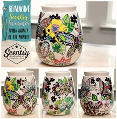 Scentsy's April Warmer--Reimagine--is still available for purchase.  Get your friends together and host a coloring party!  Find me on Facebook, Tracy Todaro Independent Scentsy Consultant, and shop at:  https://tracytodaro.scentsy.us