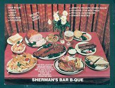 OZ Sherman's Bar B-Que, KC MO, Advertisning postcard | eBay