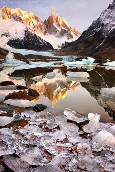 Cerro Torre // Patagonia, Argentina // natural wonders // ice // rivers // mountains // sky // south america // paradise // exotic travel destinations // dream vacations // places to go Places To Travel, Places To See, Places Around The World, Around The Worlds, Beautiful World, Beautiful Places, Photos Voyages, Belle Photo, Beautiful Landscapes