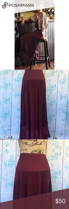 """Anthropologie Maple Pleats Abounding size 0 maxi Anthropologie Maple Pleats Abounding size 0 maxi skirt   🍥Bundle deals available (I carry various sizes and brands in my closet): 2 items 10% off, 3 items 15% off, 4 items or more 20% off.  🍥No trades, modeling, or lowball offers please. 🍥All reasonable offers accepted only through """"offer"""" button. Please submit offer willing to pay as I prefer to not counteroffer. 🍥I appreciate you all. Happy Poshing! Anthropologie Skirts Maxi"""