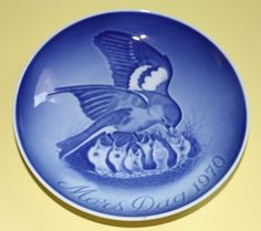 Bing and Grondahl Mors Dag 1970 Mother's Day B & G bird & chicks collector plate