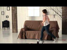 Installation d'une housse de canapé