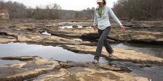 Rock hopping across the Saluda River Pitts Park in Ware Shoals South Carolina Homes, Storyboard, River, Rock, Artist, Skirt, Artists, Locks, The Rock
