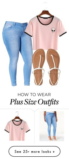 """""""Untitled #77"""" by fashioncraze15 on Polyvore featuring Celebrity Pink, Aéropostale and plus size clothing"""