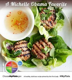 Lemongrass Pork Patties with Vietnamese Dipping Sauce #protein #pork #myplate