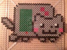 Game Boy Nyan Cat perler beads by PerlerPixieon deviantART