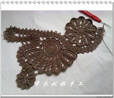 """crochet joining """"technique"""" : crochet a narrow band and use it for joining various shaped motifs in a free-form manner."""
