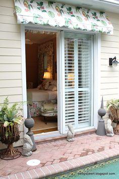 plantation shutters on sliding glass door