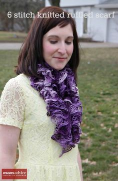Make this EASY Knitted Ruffled Scarf With Red Heart Sashay Yarn using this free 6 stitch knit pattern. This also has a picture tutorial to show you how to knit with this unusual yarn! Loom Knitting, Free Knitting, Knitting Patterns, Crochet Patterns, Crochet Ideas, Stitch Patterns, Beginner Knitting Projects, Knitting For Beginners, Knitting Tutorials