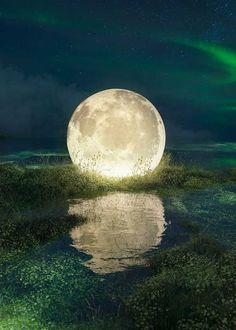 Lagoon Nocturne, Art All The Way, Free Artwork, Powerful Art, Photoshop, Universe Art, Beautiful Moon, Instagram Worthy, Backdrops