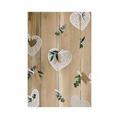 Serce papierowe ozdobne dekoracja 13,5 x 11,5 10 szt. - PaperConcept - kreatywny sklep internetowy