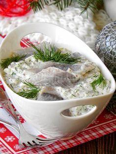 Fabryka Kulinarnych Inspiracji: Śledzie po szwedzku, z musztardą Appetizer Salads, Appetizer Recipes, Seafood Dishes, Fish And Seafood, Baked Salmon, Appetisers, Holiday Recipes, Food To Make, Food And Drink