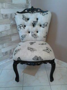 62690 idées et créas: Restauration fauteuil chauffeuse AVANT/APRES