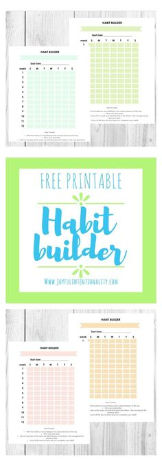 Free Printable Habit Tracker {newsletter subscription required}