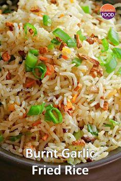 Chaat Recipe, Biryani Recipe, Spicy Recipes, Cooking Recipes, Vegetarian Fast Food, Indian Veg Recipes, Paratha Recipes, Fried Rice, Garlic