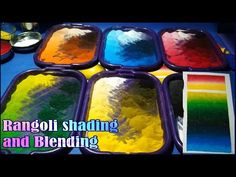 Learn how to make rangoli shade and how to blend it. Basic of rangoli shade. रंगोली का शेड बनाना - YouTube